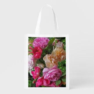 Rosas pasados de moda bolsas de la compra