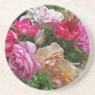 Rosas pasados de moda posavasos de arenisca