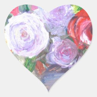 Rosas Pegatina En Forma De Corazón