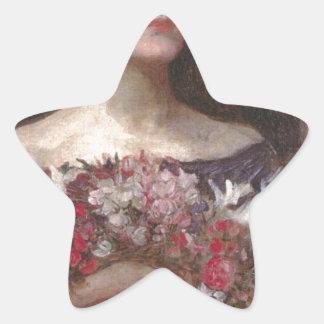 Rosas Pegatina En Forma De Estrella
