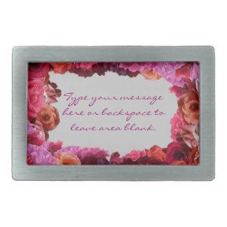Rosas personalizados hebilla del cinturón color de hebillas cinturon rectangulares