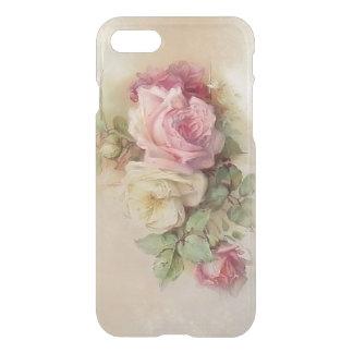 Rosas pintados a mano del estilo del vintage funda para iPhone 7