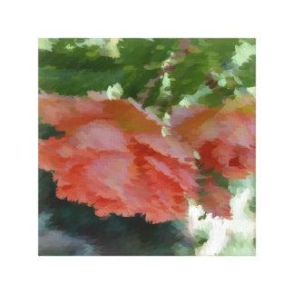 Rosas pintados del melocotón impresion en lona