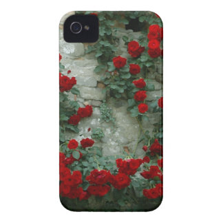 Rosas pintados vintage iPhone 4 carcasas