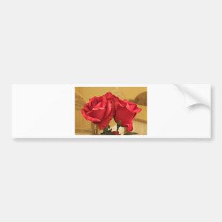 Rosas plásticos falsos pegatina de parachoque