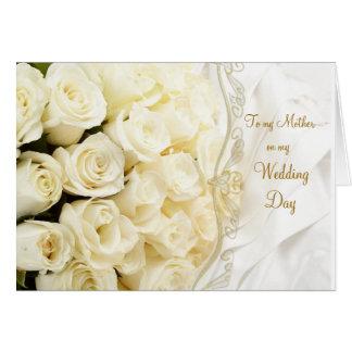 Rosas poner crema blancos. Gracias mimar por mi Tarjeta De Felicitación
