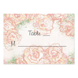 Rosas poner crema y rosados que casan tarjetas del plantilla de tarjeta de visita