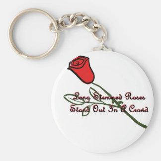 Rosas provenidos largos llavero redondo tipo pin