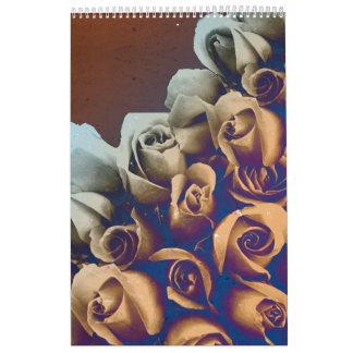 Rosas psicodélicos del Grunge Calendarios De Pared