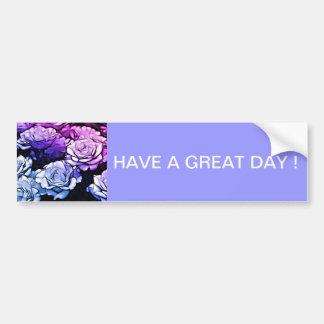 Rosas púrpuras abstractos hermosos pegatina para auto