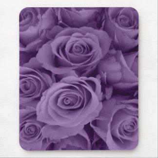 rosas púrpuras alfombrillas de ratones