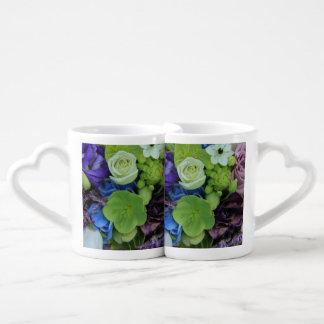 Rosas púrpuras azules por Therosegarden Tazas Para Enamorados
