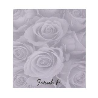 rosas púrpuras bloc de notas