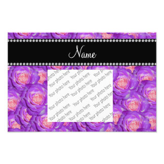 Rosas púrpuras conocidos personalizados impresiones fotograficas