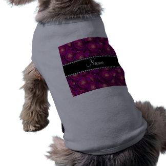 Rosas púrpuras conocidos personalizados camiseta de mascota