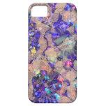 Rosas púrpuras del cordón iPhone 5 Case-Mate cobertura