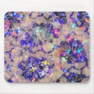 Rosas púrpuras del cordón tapetes de ratón