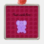 Rosas púrpuras del rosa del ornamento del elefante ornamento para arbol de navidad