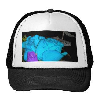 rosas púrpuras del vibrance del vibrance azul gorras de camionero