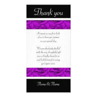 Rosas púrpuras - el boda y el cumpleaños le agrade tarjetas fotográficas personalizadas