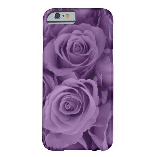 rosas púrpuras funda de iPhone 6 barely there