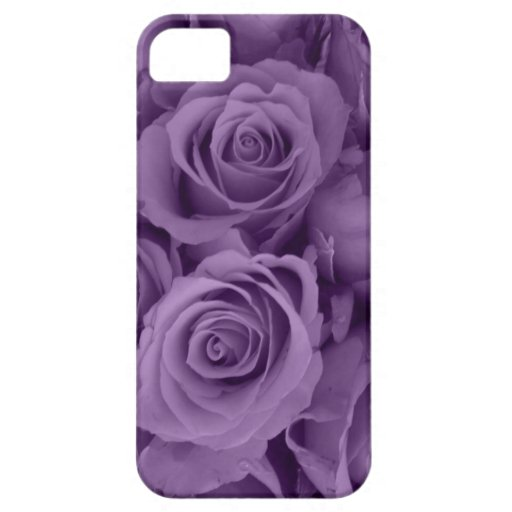 rosas púrpuras iPhone 5 Case-Mate cobertura