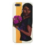 Rosas púrpuras iPhone 5 protectores