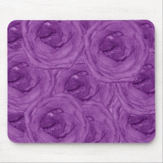 Rosas púrpuras Mousepad del terciopelo