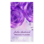 Rosas púrpuras que casan la tarjeta de visita del