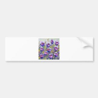 Rosas púrpuras que pintan, flores de la primavera, pegatina para auto