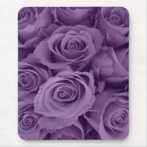rosas púrpuras tapete de raton