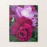 Rosas púrpuras y rosados rompecabezas
