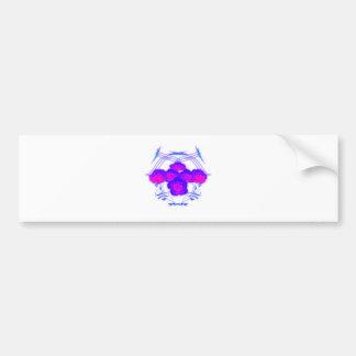 Rosas púrpuras y Tribals Pegatina Para Auto
