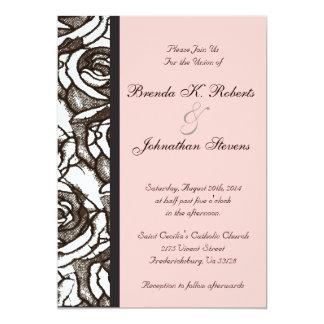 Rosas que casan la invitación