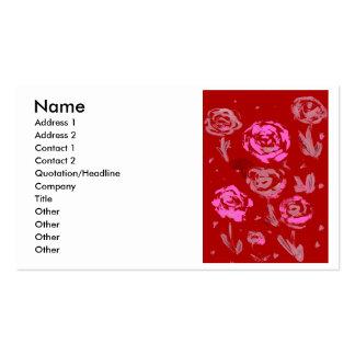 Rosas que pintan el extracto rojo del fondo tarjetas de visita