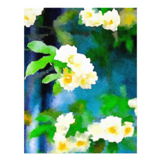 Rosas que suben plantilla de membrete