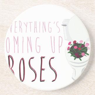 Rosas que suben posavasos de arenisca