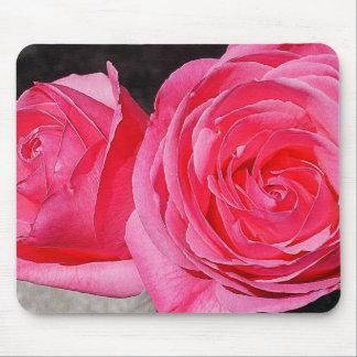 Rosas que suben rosados mouse pad