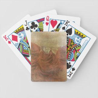 Rosas rasguñados vintage cartas de juego