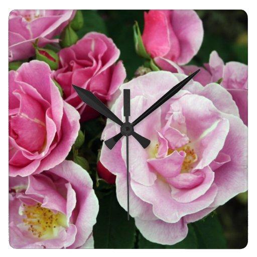 Rosas Reloj De Pared