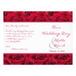 Rosas rojos a montones que casan programa tarjetas publicitarias