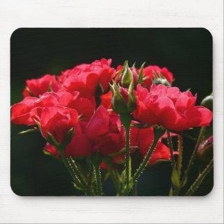 Rosas rojos alfombrillas de raton