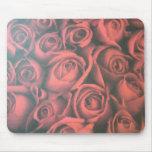 Rosas rojos alfombrillas de ratones