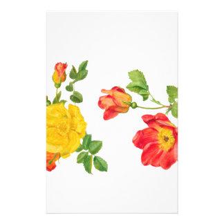Rosas rojos amarillos papeleria personalizada