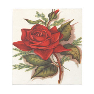 Rosas rojos libretas para notas