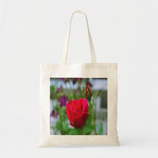 Rosas rojos bolsa tela barata