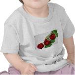 Rosas rojos camisetas