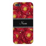 Rosas rojos conocidos personalizados iPhone 5 protector