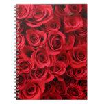 Rosas rojos cuaderno