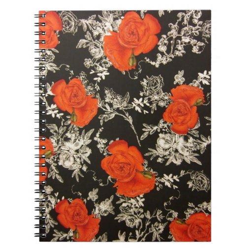 Rosas rojos cuadernos